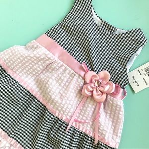 Other - 24M Rare, Too! Gingham Plaid Dress with Flower